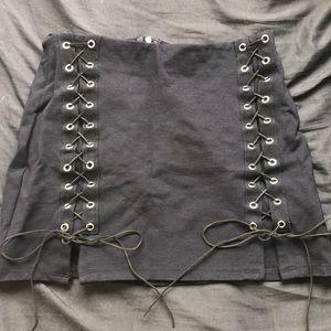 Dresses & Skirts - Black Tied Up Pencil Skirt